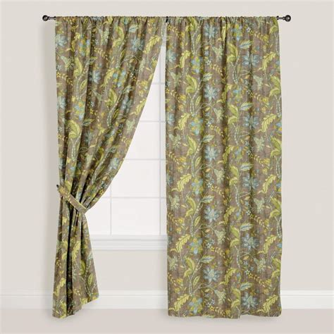 world market drapes floral curtains world market and curtains on pinterest