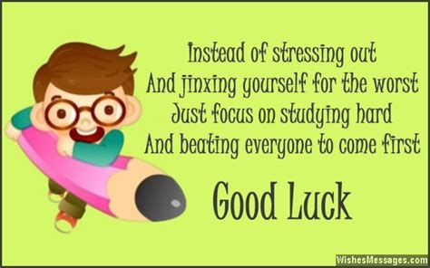 Good Luck Messages for Exams: Best Wishes for Tests ... Final Exam Wishes