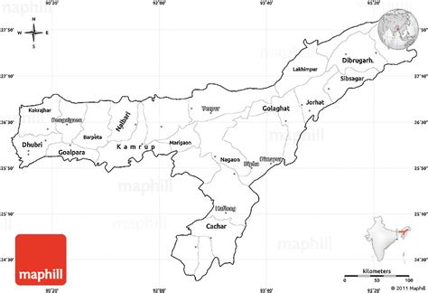East India Map Outline by Blank Simple Map Of Assam Cropped Outside