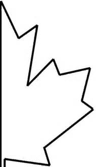 half maple leaf cut out template of canada day coloring