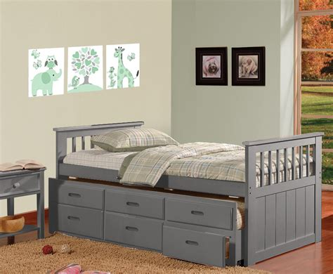 twin trundle bed with drawers hugo twin over twin trundle bed with 3 drawers grey