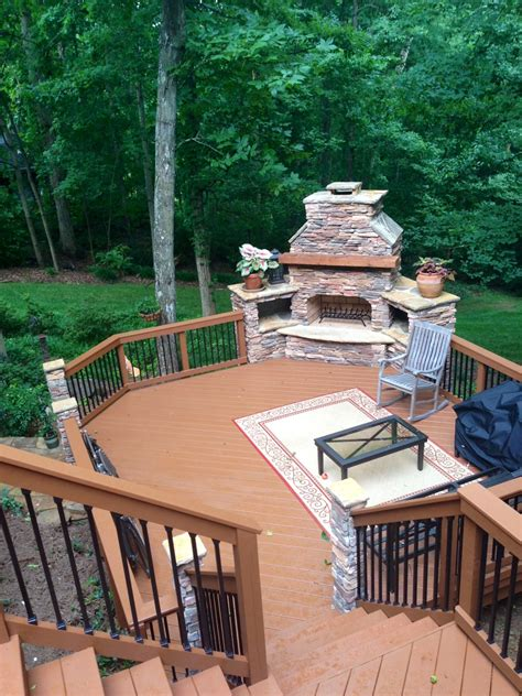 Decks With Fireplaces archadeck of decks screen porches sun rooms