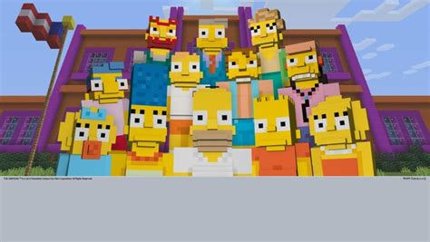 Mojang Dvd Ps4 Minecraft the simpsons joining minecraft on playstation later this