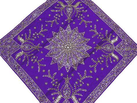 beaded tablecloth purple table overlays wedding decorative beaded handmade