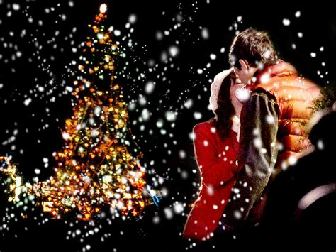 wallpaper christmas lovers finchel christmas wallpaper finn rachel wallpaper