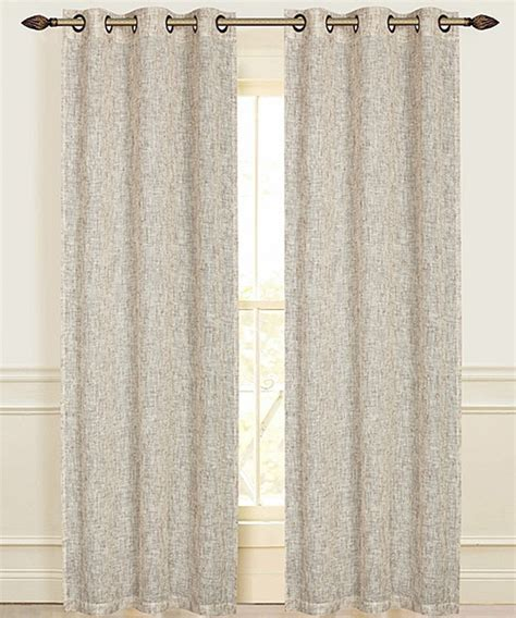 beige linen curtains beige manhattan linen look grommet curtain panel set of