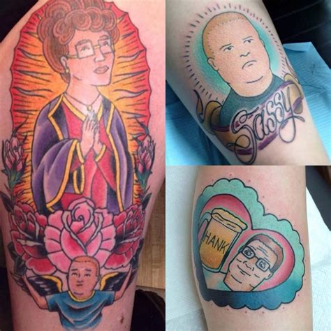 bobby hill tattoo happy anniversary king of the hill tattoodo