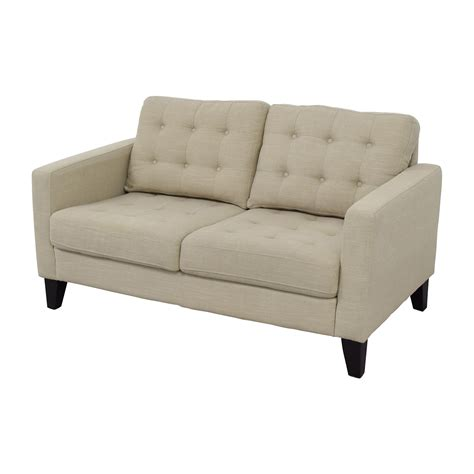 pier one loveseat 32 off pier 1 imports pier 1 imports putty tan tufted