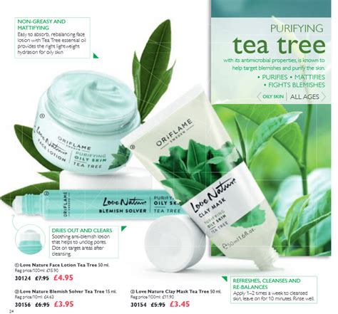 Clay Mask Tea Tree Oriflame purifying tea tree oriflame cosmetics
