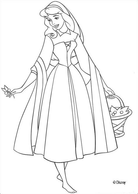 Aurora Coloring Pages Hellokids Com Disney Princess Coloring Pages Sleeping