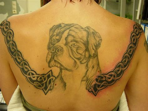 tribal dog tattoos tribal and on upperback