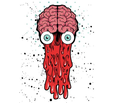 design photo cartoon bad brain vector t shirt design vector 365psd com
