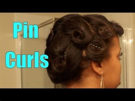 how to do pin curls on black women s hair pin curls on flat ironed hair youtube