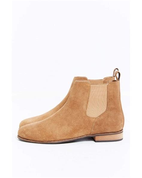 outfitters uo suede chelsea boot in beige for