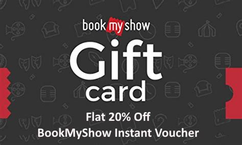 bookmyshow gift voucher bookmyshow gift card offer buy bms gift voucher at 20