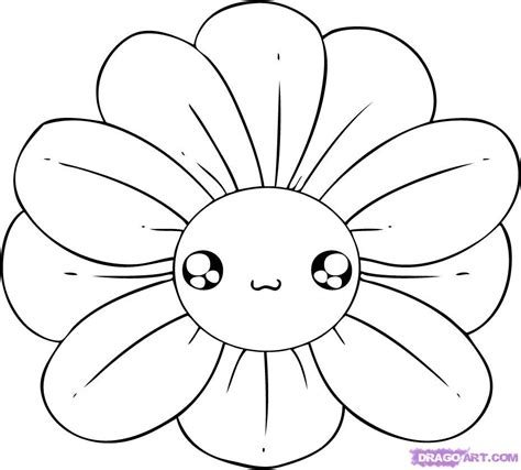 how to draw flower doodle how to draw a chibi flower step by step chibis draw