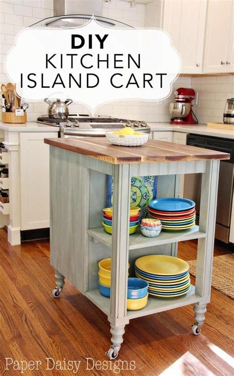 rolling kitchen island diy woodworking projects plans