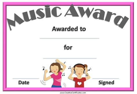 award cards templates award certificate templates free choice image
