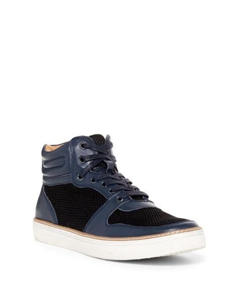 shoe rack for high top sneakers laundry hi top sneaker in blue for lyst
