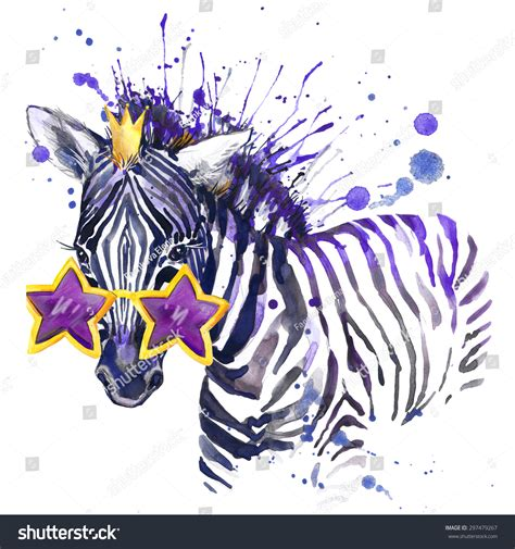 zebra fashion illustration zebra t shirt graphics zebra illustration with splash watercolor textured