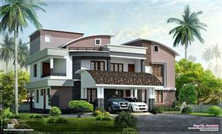 modern luxury villas floor plans luxury modern villa nice sloped roof kerala home design indian house plans