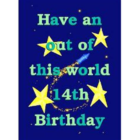 Birthday Quotes For 14 Year 14th Birthday Card Quotes Quotesgram