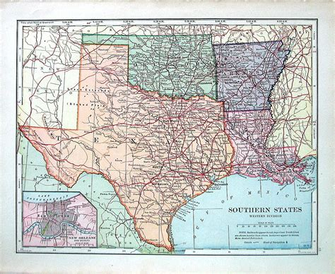 louisiana and texas map us state map southern states texas oklahoma arkansas