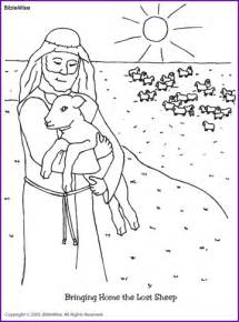 Lost sheep coloring page kids korner biblewise shepherd coloring