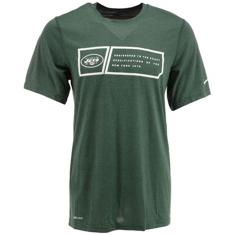 Polo Tshirt Nike Jets nike s sleeve new york jets dri fit t shirt in green for lyst