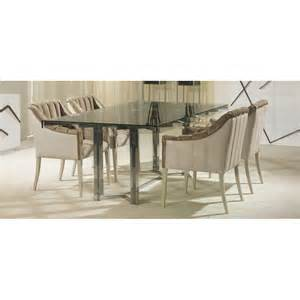 Stainless Steel Dining Table Glass Top Obsession Stainless Steel Rectangle Dining Table With Glass Top