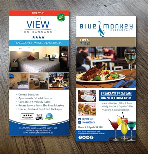 design flyer hotel modern serious restaurant flyer design for a company by