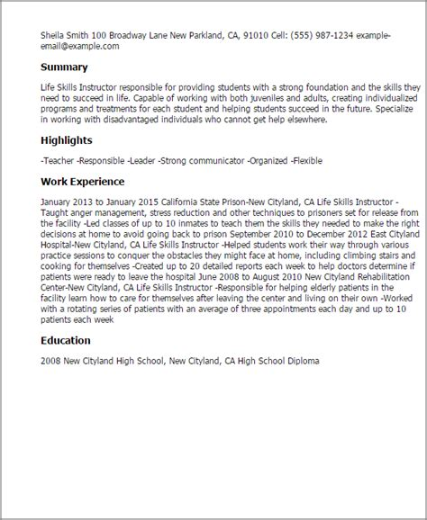 Skills Instructor Cover Letter by Skills Instructor Resume Template Best Design Tips Myperfectresume