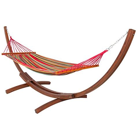 Best Patio Hammock Comparamus Best Choiceproducts Wooden Curved Arc Hammock