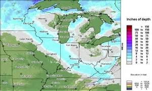 Snow Depth Map Michigan by Snow Depth Map Nws Central Region Headquarters 2016 Car