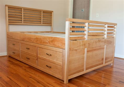 queen bed frame with drawers queen bed with drawers underneath decofurnish