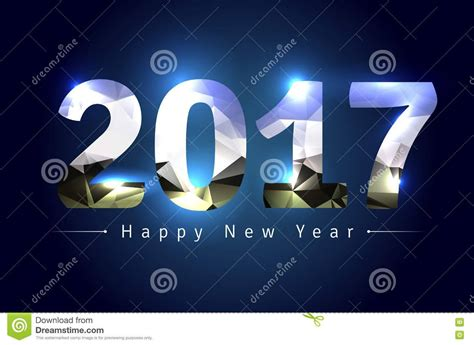 happy new year 2017 3d text