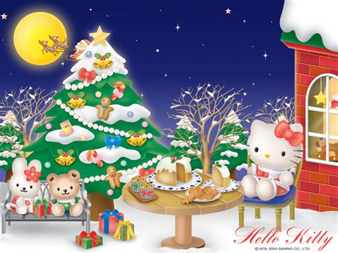 wallpaper christmas sanrio hello kitty christmas wallpapers hello kitty forever
