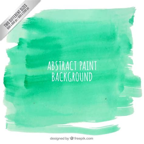 abstract paint background in green color vector free