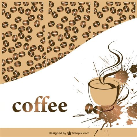 wallpaper coffee vector coffee cup and beans background vector free download