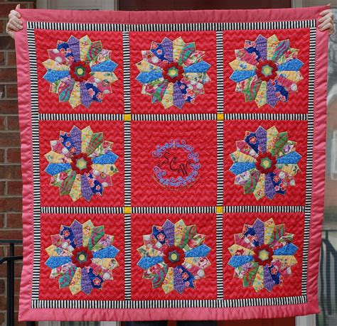 cheeky cognoscenti finished dresden plate minky quilt for princess petunia