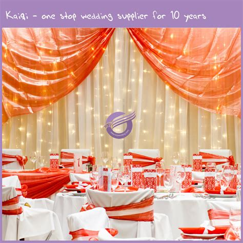 Voile Wedding Backdrop by Ivory Decorative Voile Wedding Backdrop With Led Light
