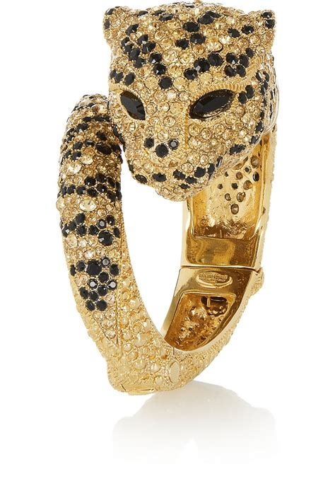 Roberto Cavalli Gold Bracelet Pochette by Lyst Roberto Cavalli Gold Plated Swarovski