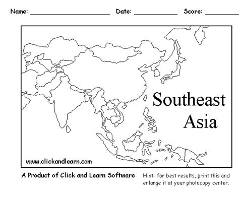 Printable Map Southeast Asia   blank political map of southeast asia