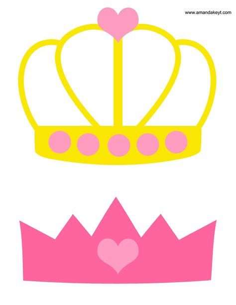 printable hello kitty photo booth props crowns from princess pink printable photo booth prop set