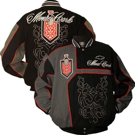 Applique Snap Button Jacket order mtc marketing gm chevrolet black monte carlo jacket