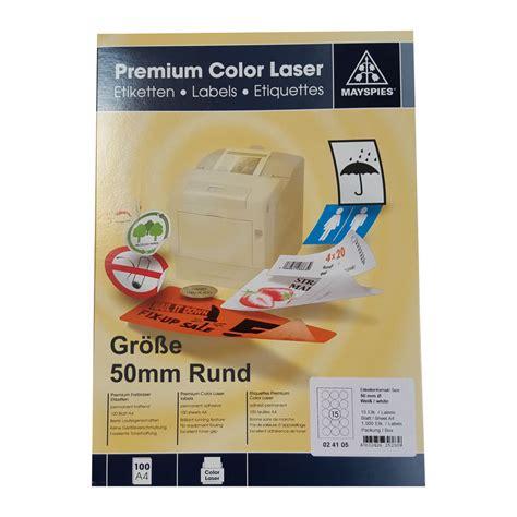Aufkleber Rund 50mm by 50mm Etiketten Rund May Spies Premium Color Laser 15