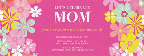 office mac mothers day card templates s day free invitations evite