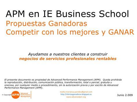 Mba Ie Business School Linkedin by Apm En Ie Propuestas Ganadoras Competir Con Los