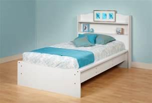 prepac aspen platform bed bookcase headboard by oj
