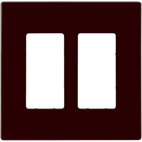 home depot l switch eaton 2 switch decorator duplex wall plate brown